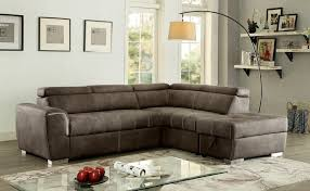 Pull Out Sectional Sofa 2 Pc Lorna Collection Ash