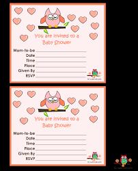11 free printable owl baby shower invitations