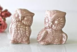 2 cute owls wedding cake topper in pink owl couple figurine