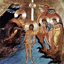 jesus baptized by john the baptistin the river jordan daily