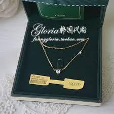 diamond necklace gift images Purchasing authentic korean lloyd double diamond 10k gold jpg