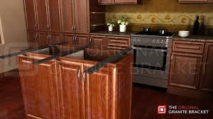 kitchen islands with granite countertops sided island support brace the original granite bracket