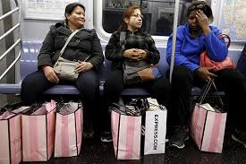 black friday in america crowds in stores thin but big at