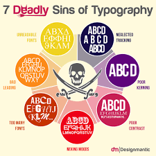 seven deadly sins 7 deadly sins of typography designmantic