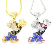 necklace pendant size images New bling bling iced out large size cartoon movie crystal pendant jpg