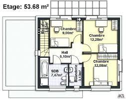 plan maison etage 3 chambres plan maison 90m2 etage plan m plan maison etage 3 chambres 90m2