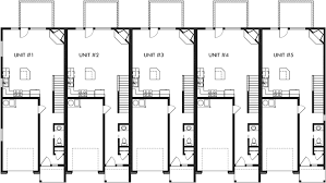 row home plans townhouse plans 5 plex plans row house plans townhouse plans