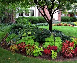 Garden Shade Ideas Front Yard Impressive Colorful Landscaping Ideas For Front Yard