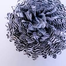 zebra tissue paper zebra tissue paper pom poms party kit set of 12 lanterns and