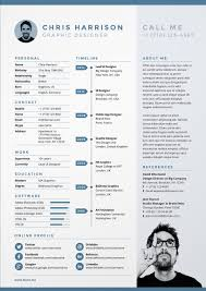 Infographic Resume Template Free Download 10 Creative Cv Designs To Inspire Your Job Search In 2017
