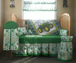 Tractor Crib Bedding Furniture 5 Pc Deere Plaid Tractor Baby Bedding Set Free