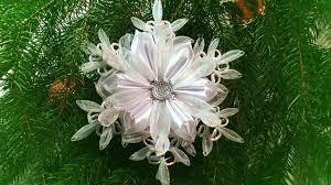 diy christmas crafts christmas snowflakes kanzashi tutorial