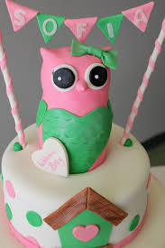 baby shower owl cake my delicias