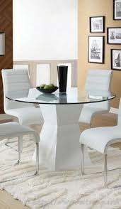 Round Glass Kitchen Table Sets Foter - Glass for kitchen table