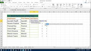 how to split full name to first and last name in excel youtube