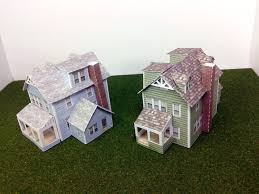 paper house card stock model house n scale or z scale for