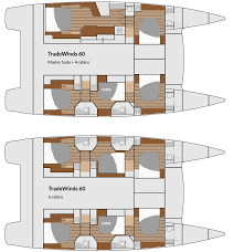 Catamaran Floor Plans by Luxury Yachts For Sale Tradewinds