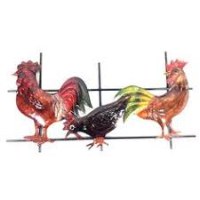 rocking rooster brown chicken ornament large hd garden design