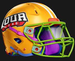 editable custom helmet riddell 360 football helmet free psd