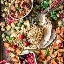 sheet pan thanksgiving dinner for 2 foodgawker