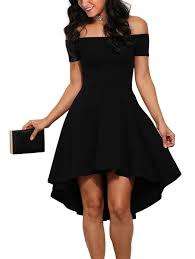 sidefeel women off shoulder sleeve high low skater dress at amazon