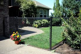fence backyard ideas black chain link fence google search fence pinterest black