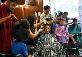 videos of girls barbershop haircuts for 2015 san jose barbershop gives away free haircuts to kids going back to