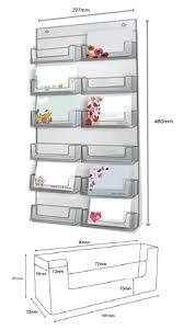 clear perspex 12 bay wall mounted card holder