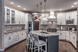 images of white kitchen cabinets with gray island crownsville md k s renewal systems llc