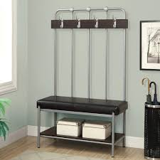 White Entryway Bench by Wall Mounted Hallway Stand U2013 Bookpeddler Us