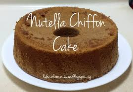 ly u0027s kitchen ventures nutella chiffon cake
