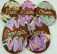 personalized easter eggs personalized chocolate easter egg handmade pastel swirls