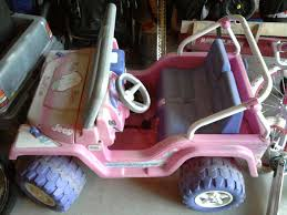 barbie jeep 2000 modified power wheels going 4wd
