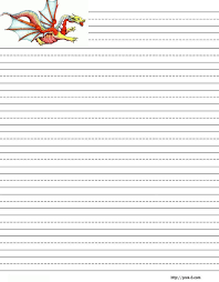 printable lined paper grade 2 dragons free printable stationery for kids dragon theme free lined