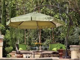 10 Ft Offset Patio Umbrella Furniture Costco Cantilever Umbrella For Most Dramatic Shade