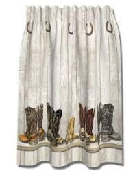 Western Bathroom Shower Curtains Western Cowboy Boots Saddle Up Shower Curtain Bath New