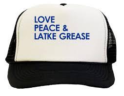 hanukkah hat peace latke grease hanukkah trucker hat teeshirtpalace