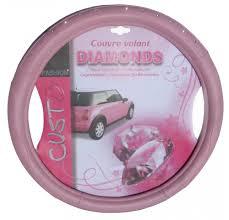 moquette rose fushia couvre volant rose à strass accessoires auto