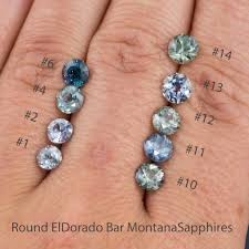 montana sapphire engagement rings to green eldorado bar montana sapphire halo dust engagement ring