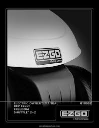 e z go rxv electric owner manual