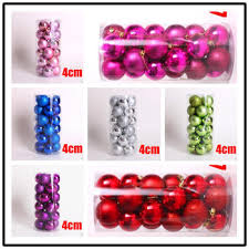 Christmas Ball Decorations Wholesale by Buy 4cm Clear Christmas Balls Wholesale And Retail 24pcs Lot