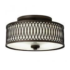 Ceiling Light Uk Rustic Design Semi Flush Ceiling Light In Bronze With Inner Shade