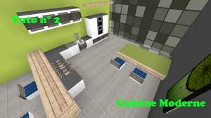 Model Cuisine Moderne by Minecraft Tuto Cuisine Moderne Youtube