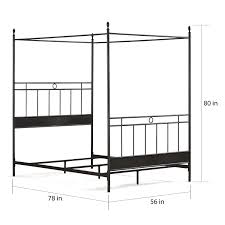 Metal Canopy Bed Carbon Loft Cara Metal Canopy Bed Free Shipping Today