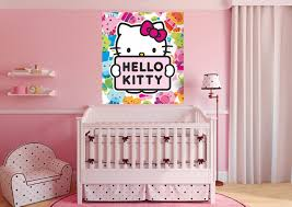 hello kitty kid s room wall mural by wallandmore pinterest hello kitty kid s room wall mural by wallandmore
