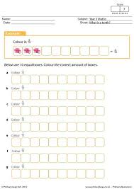 primaryleap co uk fractions what is a tenth worksheet