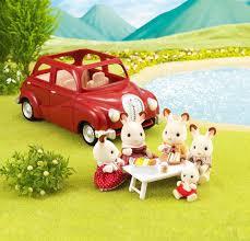 buy sylvanian families family saloon car red