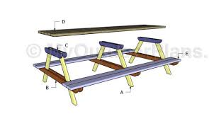 10 u0027 picnic table plans myoutdoorplans free woodworking plans