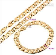 necklace gold men images 115s18k gold filled men set necklace and bracelet with jpg