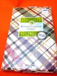 thanksgiving vinyl tablecloth autumn harvest flannel backing 52 x